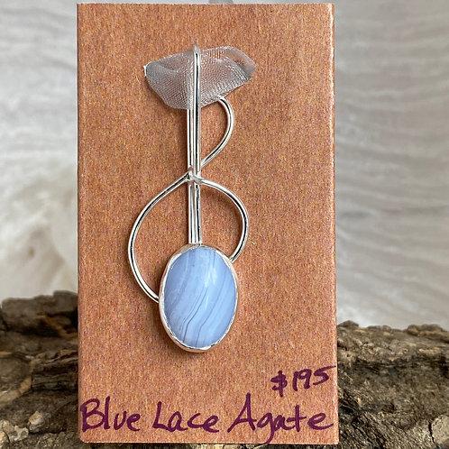 Blue Lace Agate Play Me pendant