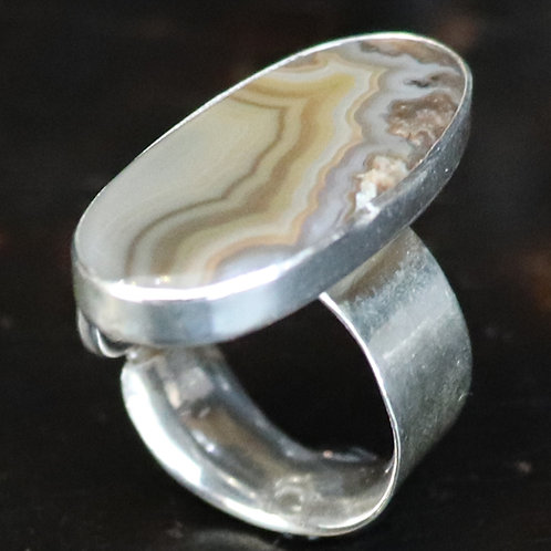 Silvered Stratum Ring
