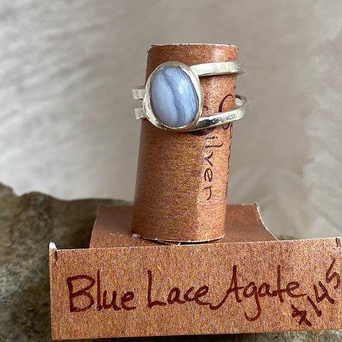Blue Lace Agate Classic ring