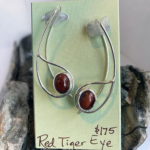 Red Tiger Eye Aurora Earrings