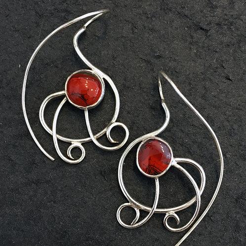 Scarlet's Web Earrings