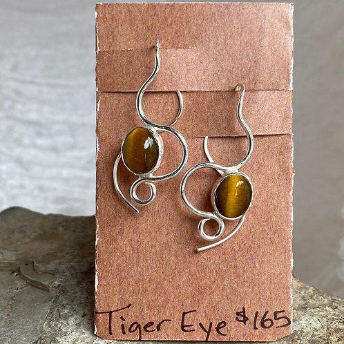 Tiger Eye Winding Path earrings