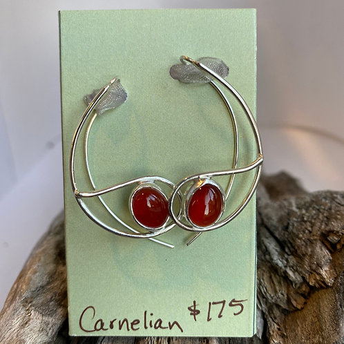 Carnelian Aurora Earrings