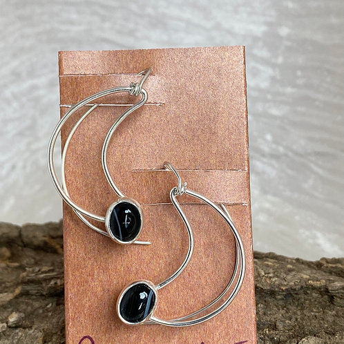 Sardonyx Crescent earrings