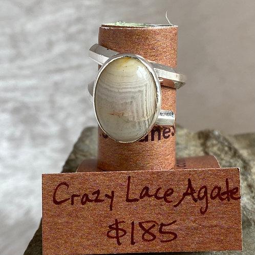 Crazy Lace Agate Ridge ring