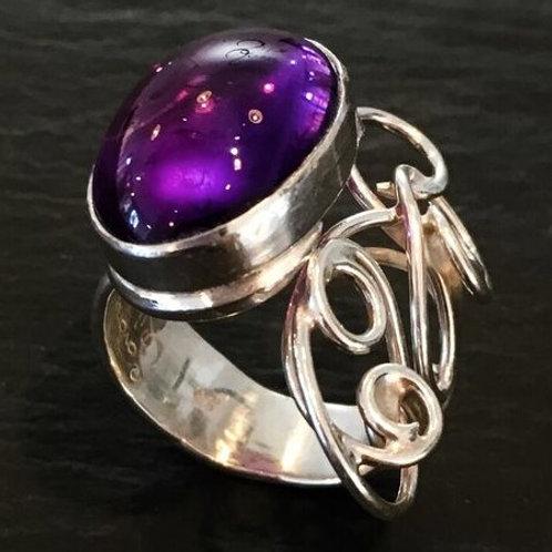 Violet Vines Ring