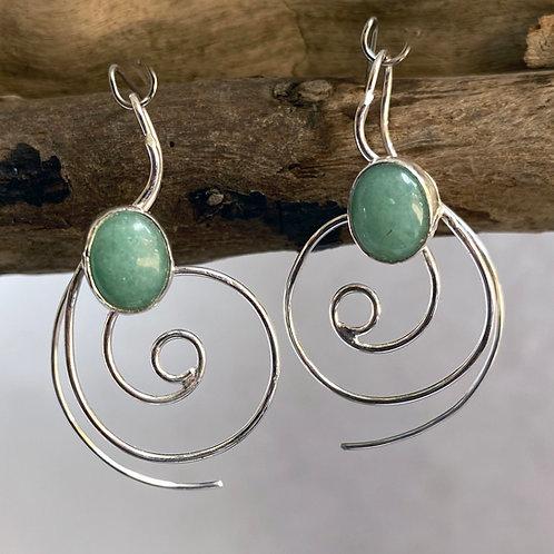 Aventurine Top Current earrings