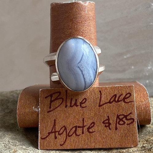 Blue Lace Agate Ridge ring