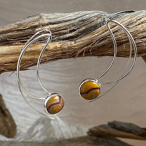 Burgundy Bisque earrings
