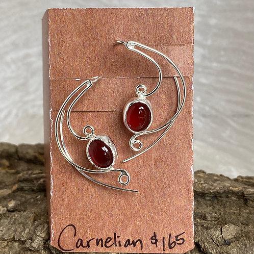 Carnelian Brugmansia earrings