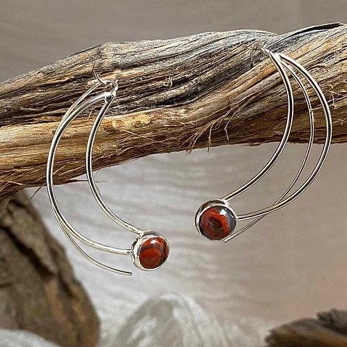 Fire Moon earrings