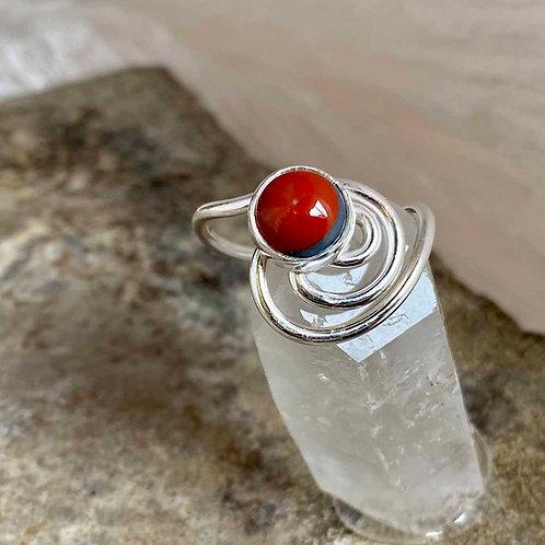 Cerise & Crescent ring