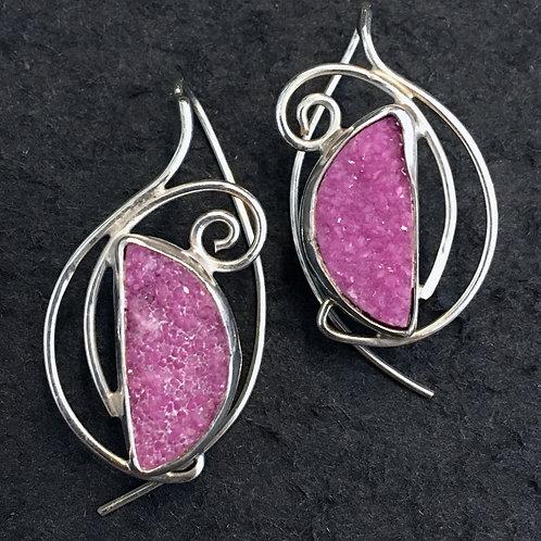 Sparkling Rose Earrings