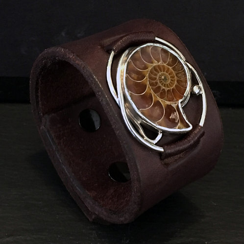 Cretaceous Leather Cuff