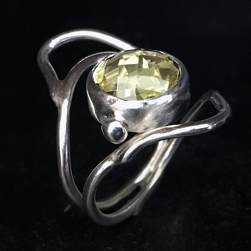 Lemon Crystal Drop Ring