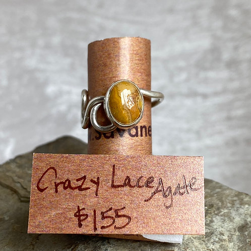 Crazy Lace Agate Sipple ring