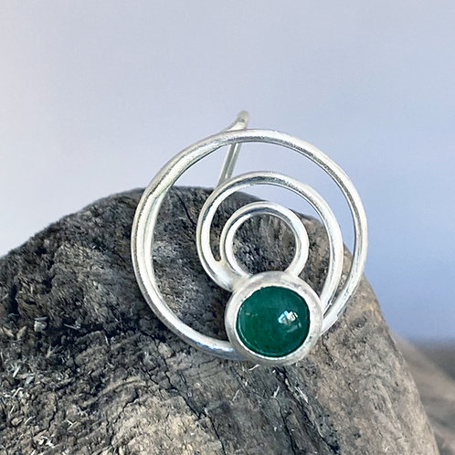 Compassion Aventurine Mask Pin