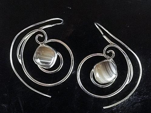 Snail Reverse Hook Earrings