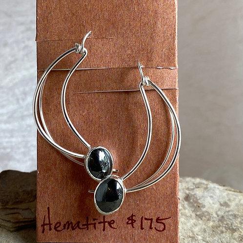 Hematite Crescent earrings