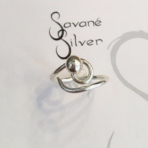 Sweeties Silver Halo Ring