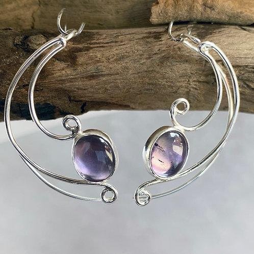 Blush Amethyst Brugmansia earrings