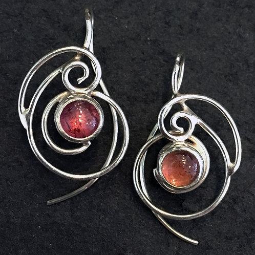 Raspberry Droplet Earrings