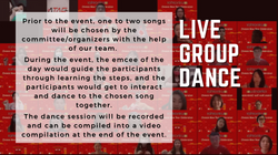 Live group dance