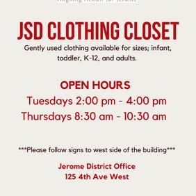 JSD Clothing Closet!