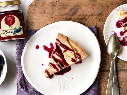 Crostata con ricotta e Confettura extra d'uva Tintilia