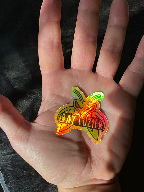 Small Holographic Mantis Sticker