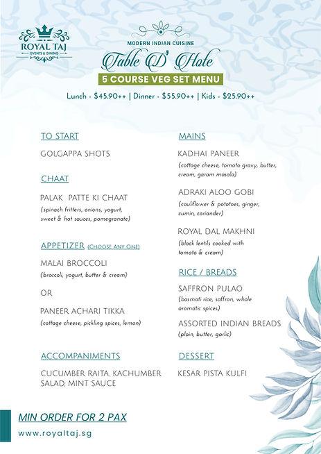 Royal TAJ Set Course Meal - VEG.jpg