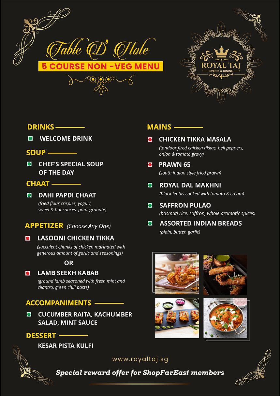 Far East Rewards Set Course Meal for 2 (