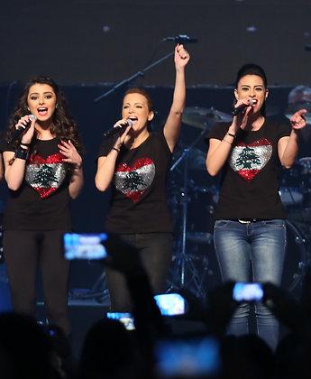 Heart Lebanon T-shirt (Female)