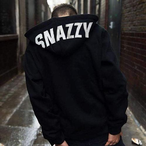 SNAZZY 3M Black Zip-up Hoodie