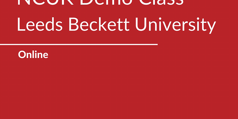 NCUK Demo Class with Leeds Beckett University