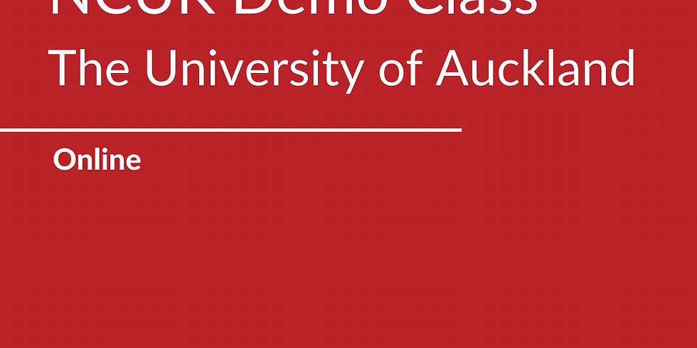 NCUK Demo Class with the University of Auckland