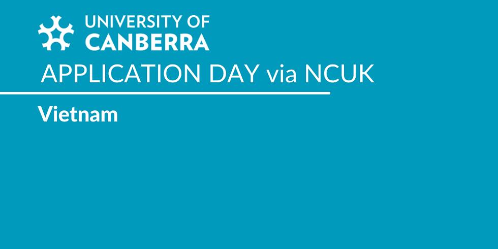 UNIVERSITY OF CANBERRA APPLICATION DAY via NCUK