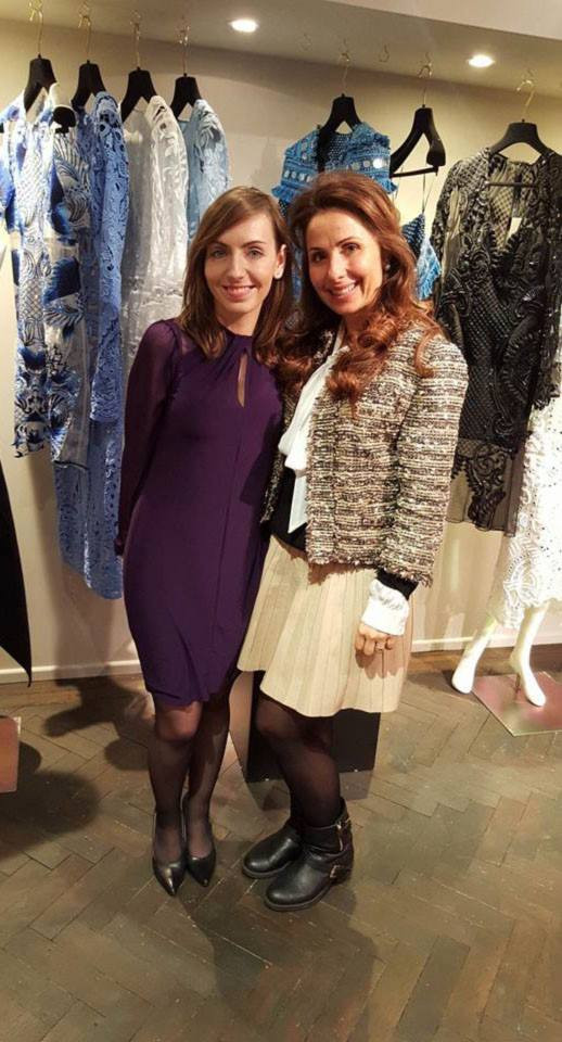 With Elena Antoniades-MADAME FIGARO award-winning women's fashion designer and  E  L A London boutique owner