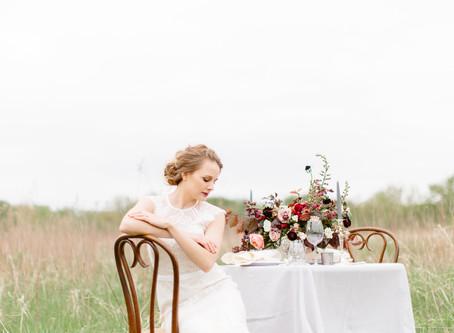 Old World Bridal Inspiration at Squaw Creek Park | Marion, Iowa