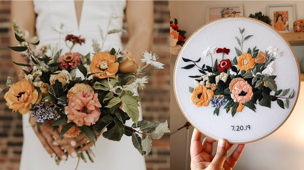 Embroidery Bouquet Heirloom by Kim Art Designs