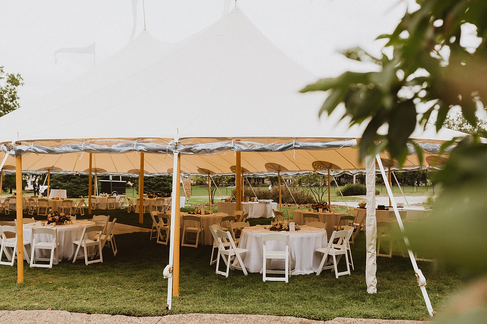 sperry wedding tent at hauberg estate