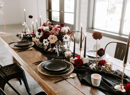 Autumn Moody Wedding Table Inspiration