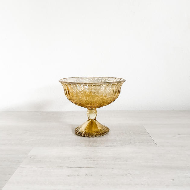 tradition gold mercury glass compote
