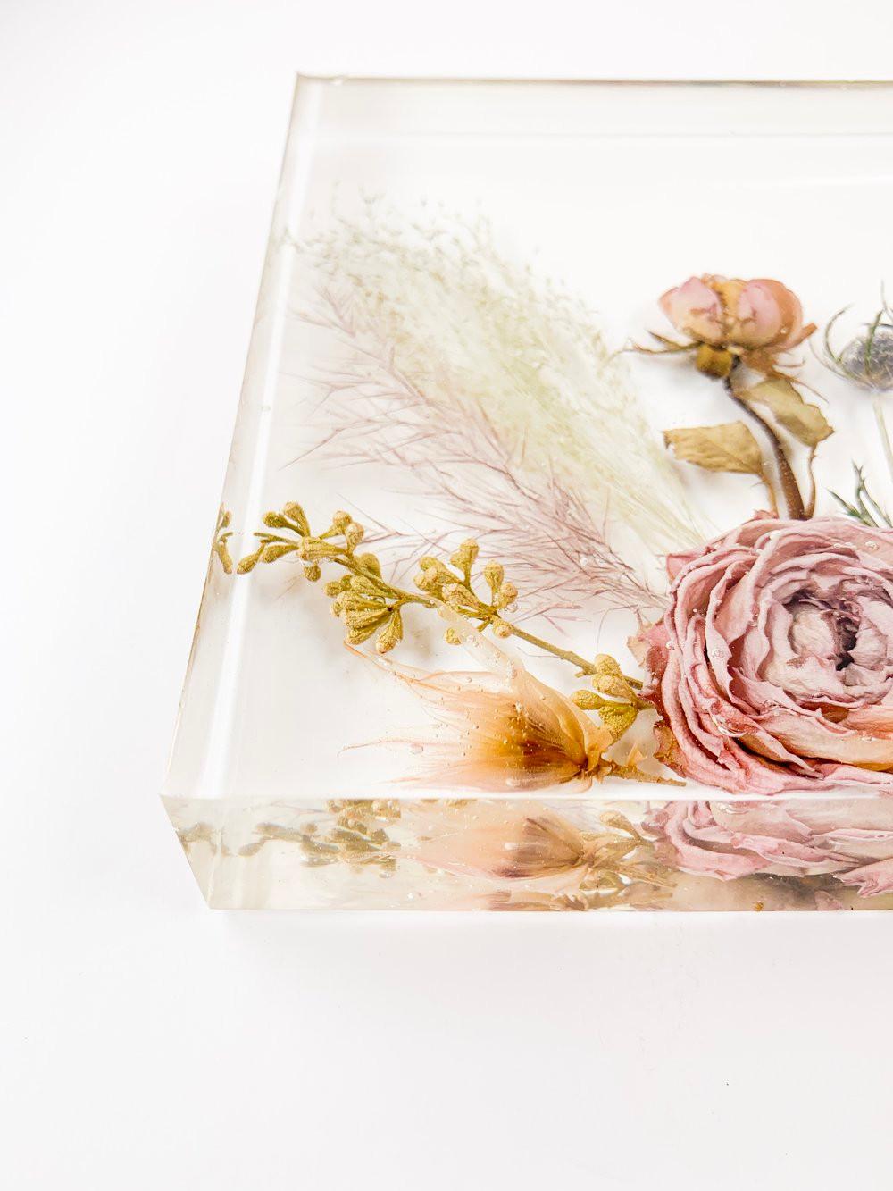 Resin encased flower Keepsake by Soil & Soul Studio