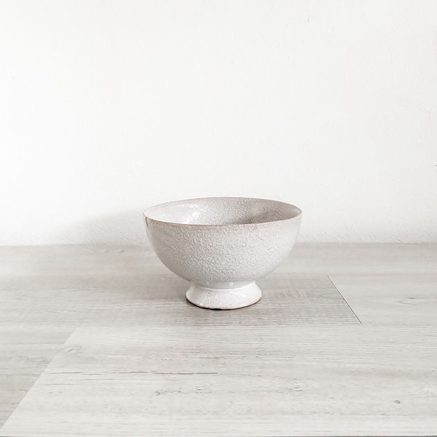 lyra glazed ceramic compote