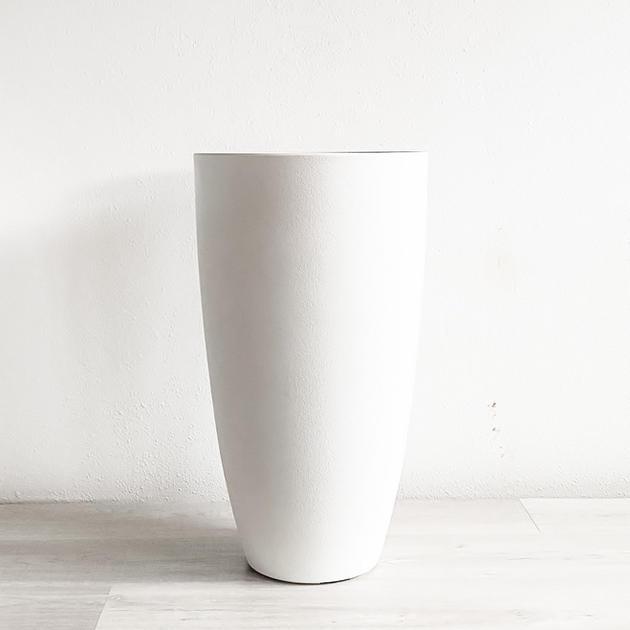 oversized white vase
