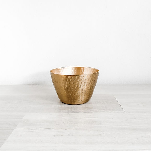 jema gold metal bowl