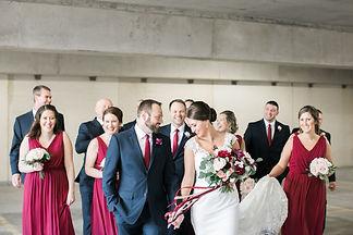 bridal-party-burgundy-navy-wedding-lush-