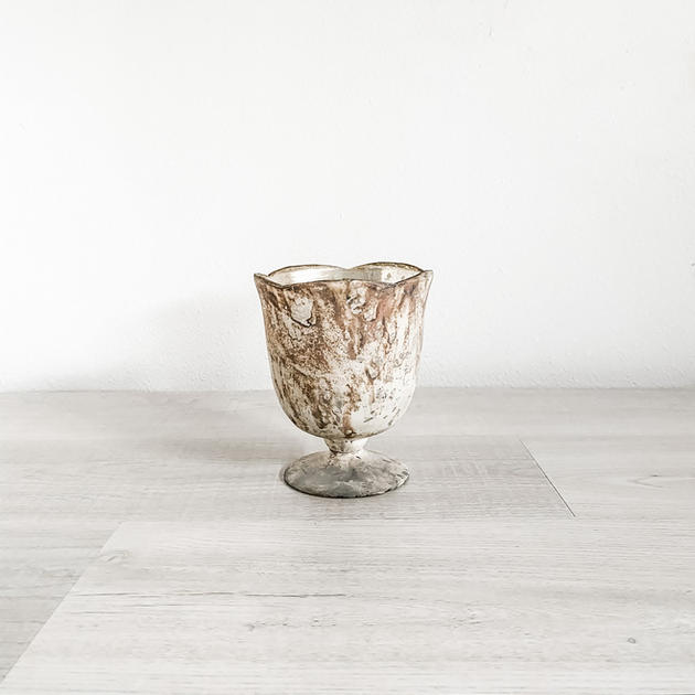 chelsea marbled glass compote