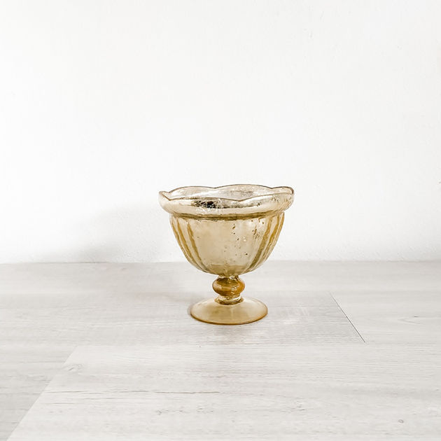 carraway gold mercury glass compote